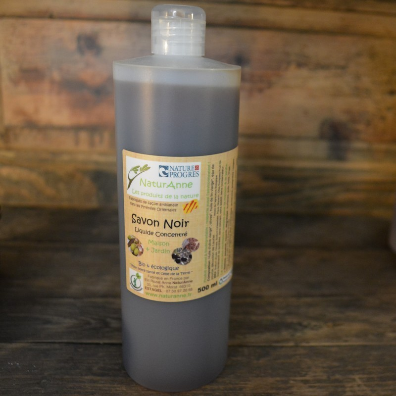Savon Noir Liquide Concentre 500 Ml Naturanne